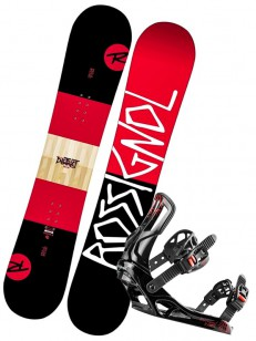 ROSSIGNOL komplet DISTRICT WIDE+BATTLE BLACK/RED/W