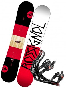 ROSSIGNOL komplet DISTRICT WIDE+BATTLE RED/WHITE/B