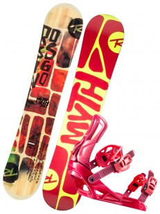 ROSSIGNOL komplet MYTH+MYTH RED/YELLOW
