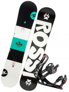 ROSSIGNOL komplet ALIAS+BATTLE BLACK/WHITE
