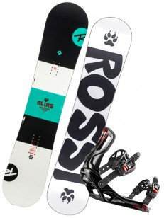 ROSSIGNOL komplet ALIAS+BATTLE WHITE/BLACK