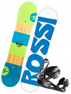 ROSSIGNOL komplet SCAN SMALLS+ROOKIE WHITE/BLUE