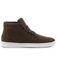 EMERICA boty ROMERO LACED HIGH BROWN/WHITE