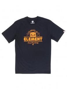 ELEMENT triko BURGER FLINT BLACK