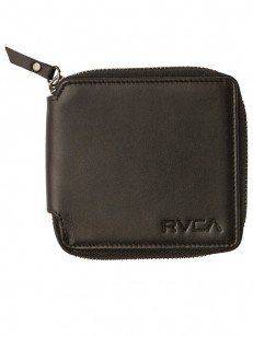 RVCA peněženka ZIP AROUND BLACK