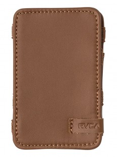 RVCA peněženka LEATHER MAGIC TAN