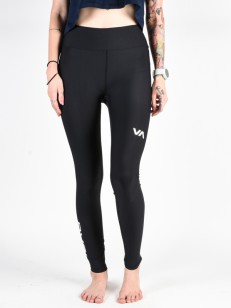 RVCA legíny VA COMPRESSION BLACK