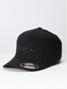 RVCA kšiltovka FLEX FIT BLACK
