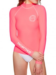 BILLABONG lycra LOGO IN CORAL PINK