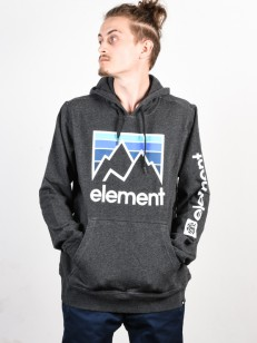 ELEMENT mikina JOINT CHARCOAL HEATHER