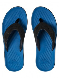 QUIKSILVER žabky HALEIWA PLUS BLACK/BLUE/BLACK