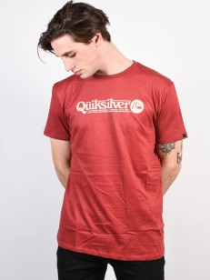 QUIKSILVER triko ART TICKLE BRICK RED