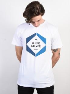 QUIKSILVER tričko HEXA LOGO WHITE