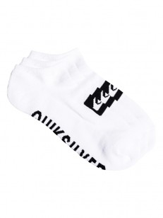 QUIKSILVER ponožky ANKLE 3PACK WHITE