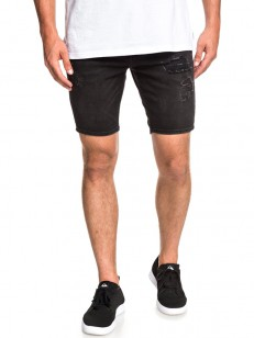 QUIKSILVER kraťasy DISTORSION STRANGER BLACK
