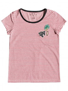ROXY tričko NIGHT CALL B BARBERRY COSY STRIPES