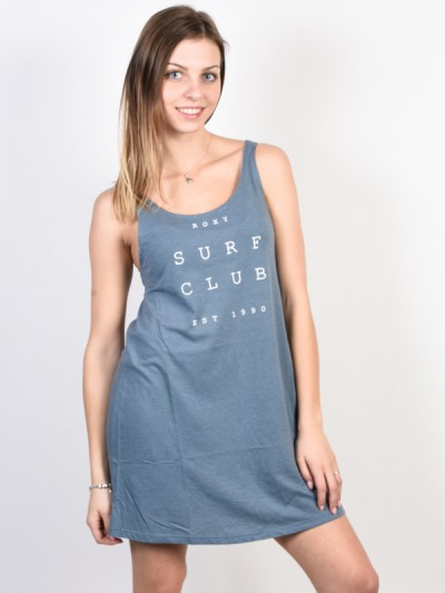 ROXY šaty TRAVEL TO LIVE TEE BLUE MIRAGE HEATHER