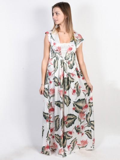 ROXY šaty A DAY AT TRIBECA MARSHMALLOW TROPICAL LO