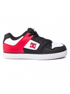 DC boty PURE BLACK/ATHLETIC RED/BLACK