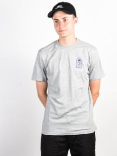 RVCA triko BAD PALMS HEATHER GREY