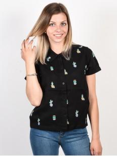 RVCA košile LUNIS BLACK PRINT