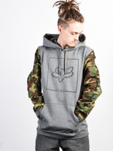 FOX mikina CHAPPED CAMO PULLOVER Heather Graphite