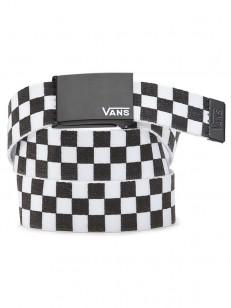 VANS pásek LONG DEPSTER WEB Black/White Check