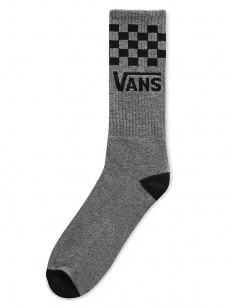 VANS ponožky CHECKER VANS CREW Heather Grey