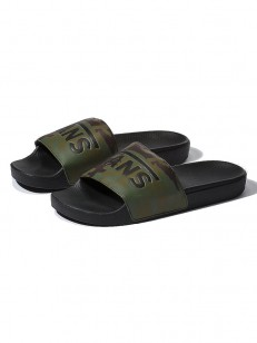 VANS pantofle SLIDE-ON (CAMO) BLACK/GREEN