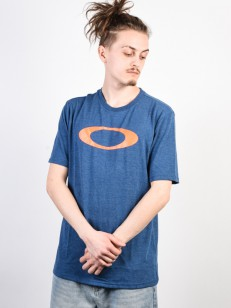 OAKLEY tričko O-BOLD ELLIPSE ENSN BLUE LT HTHR