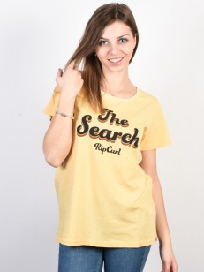 RIP CURL tričko KEEP SEARCHING MUSTARD
