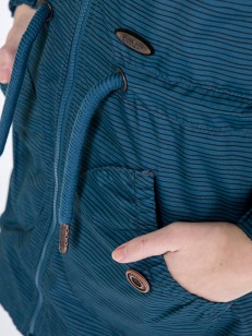 ALIFE AND KICKIN bunda CHARLOTTE AS smaragd stripe