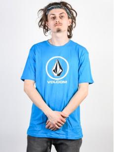 VOLCOM tričko CRISP STONE BSC Cyan Blue
