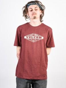 VOLCOM tričko VOLCOM RUN HTH Crimson