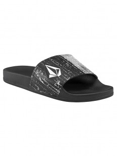 VOLCOM pantofle DONT TRIP MENS SLIDE Black White