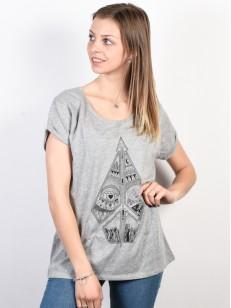 VOLCOM tričko RADICAL DAZE Heather Grey