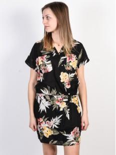 VOLCOM šaty RAGN FLOWER Black Combo
