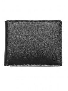 NIXON peněženka PASS LEATHER COIN BLACK