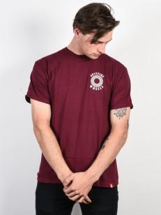 SPITFIRE tričko OG CLASSIC BRGNDY/WHT