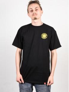 SPITFIRE tričko OG CIRCLE OUTLINE BK/YLW