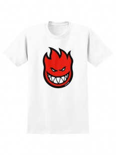 SPITFIRE tričko BIGHEAD FILL WHT/RED