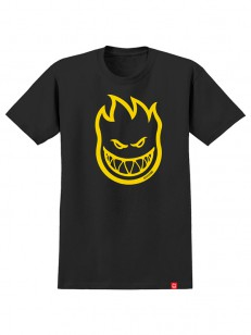 SPITFIRE tričko BIGHEAD BLK/YLW