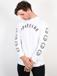 SPITFIRE tričko OLD E WHT/BLK