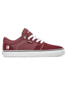 ETNIES topánky BARGE LS BURGUNDY/WHITE