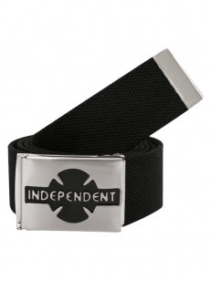 INDEPENDENT pásek CLIPPED Black