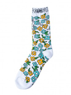 KROOKED ponožky OG SWEATPANTS WHITE/MULTI