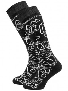 HORSEFEATHERS ponožky DRAVEN LUCAS black