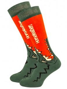 HORSEFEATHERS ponožky CROC red orange