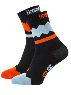 HORSEFEATHERS ponožky FIZZ red orange