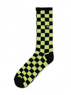 VANS ponožky CHECKERBOARD CREW II SHARP GREEN/BLAC